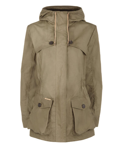 Jacket - Wax Parka In Khaki Green