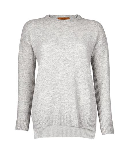 Jumper - Drop Shoulder Jumper In Grey