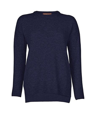 Jumper - Drop Shoulder Jumper In Navy