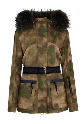 Overcoat - Amanda Wakeley 'Elements' Parka In Camo