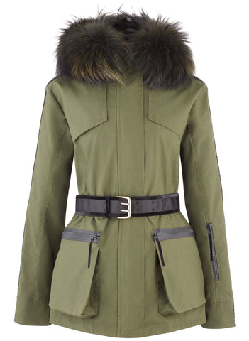 Overcoat - Amanda Wakeley 'Elements' Parka In Khaki Green