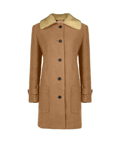 Overcoat - Shearling Collar Coat