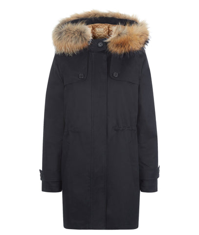 Overcoat - TROY Parka In Black