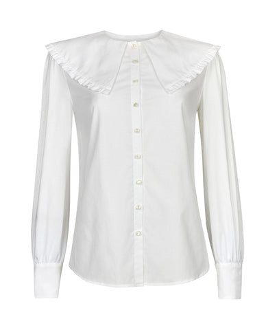 The Cape Collar Shirt in White