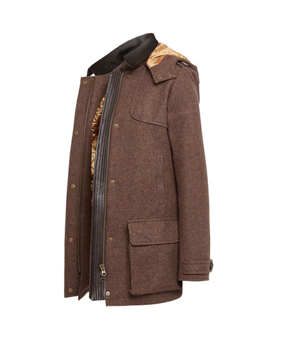 The Field coat in Brown Tweed