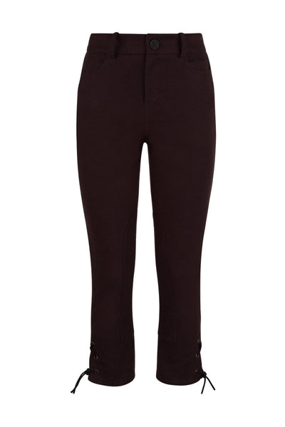 Trousers - Lace-up Moleskin Breeches In Cocoa
