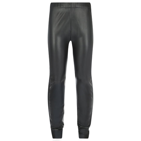 Trousers - Stretch Leather Trousers In Black