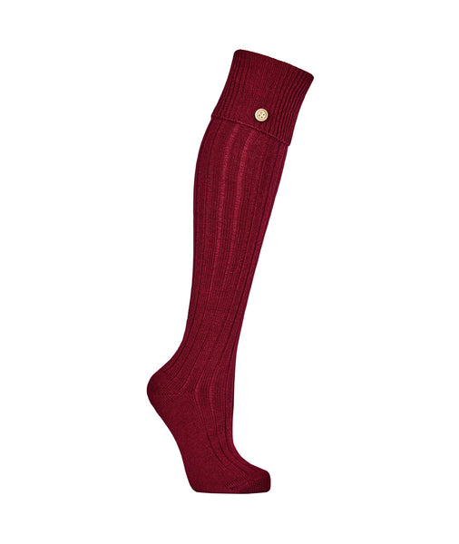 Welly Socks in Burgundy