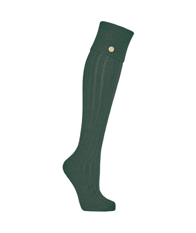 Welly Socks in Forest Ancient Green