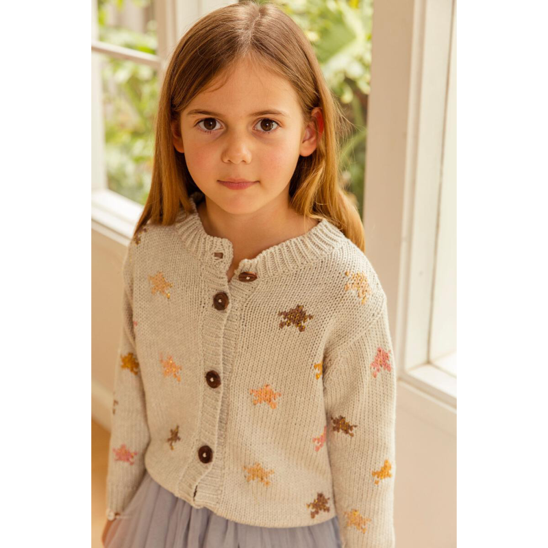 Alex & Ant Starry Nights Cardigan - Silver Moon
