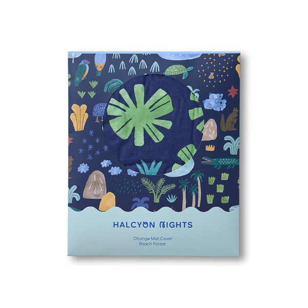 Halcyon Nights Change Mat Cover - Beach Forest