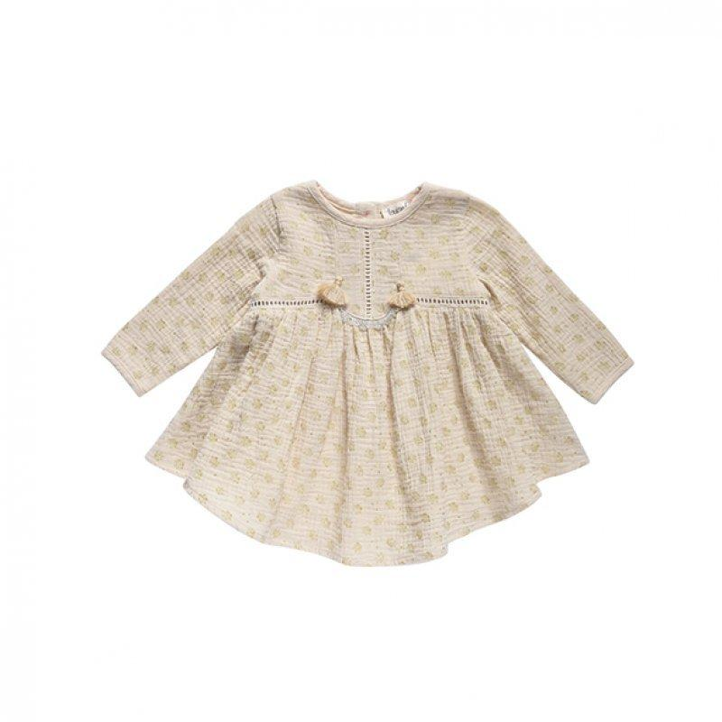 Louise Misha Magdalena Dress - Beige Glitter