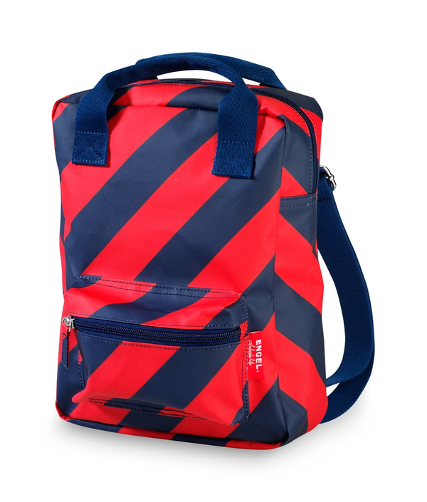 Engel Small Backpack - Navy/Red
