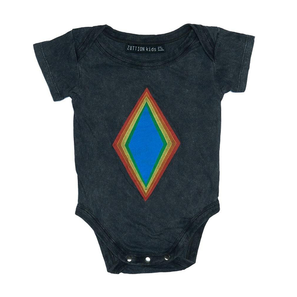Zuttion SS Bodysuit - Rainbow Diamond