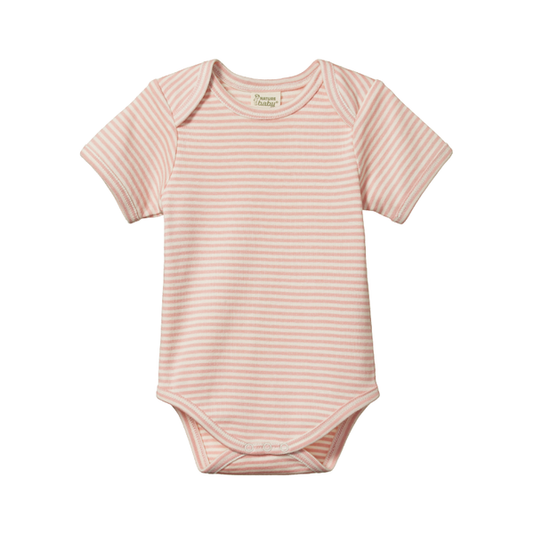Nature Baby S/S Bodysuit - Lily Stripe