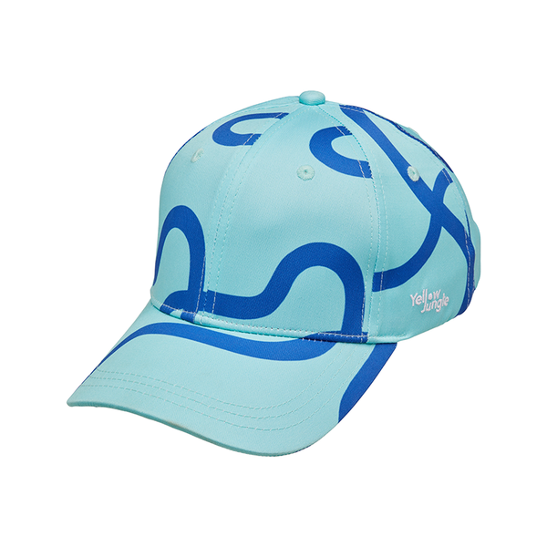 Yellow Jungle Swim Cap - Mint Lines