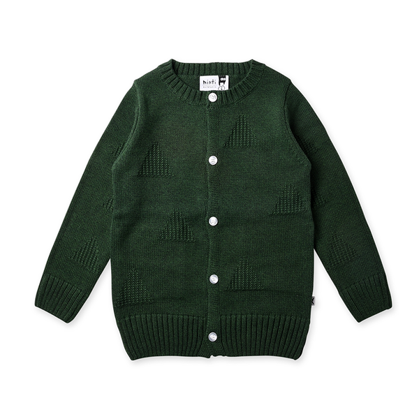 Minti Triangles Knit Cardy - Forest