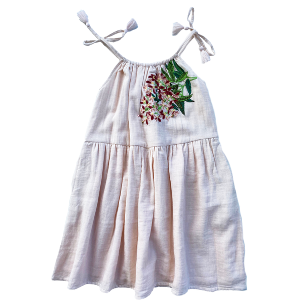 Bella & Lace Noel Dress Embroidery - Sugarplum