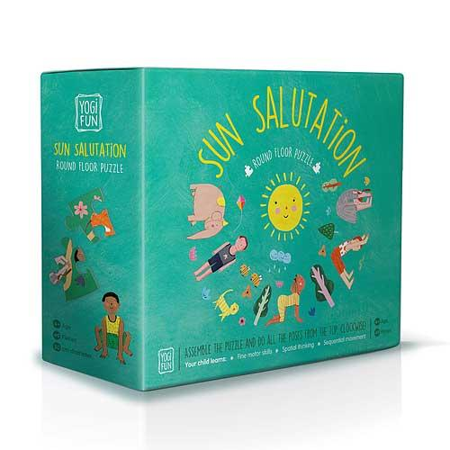 Yoga kids puzzle, Sun Salutation Puzzle in Shorties kids shop Sydneys inner west