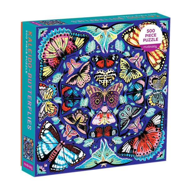 Mudpuppy 500PC Puzzle - Kaleido Butterflies