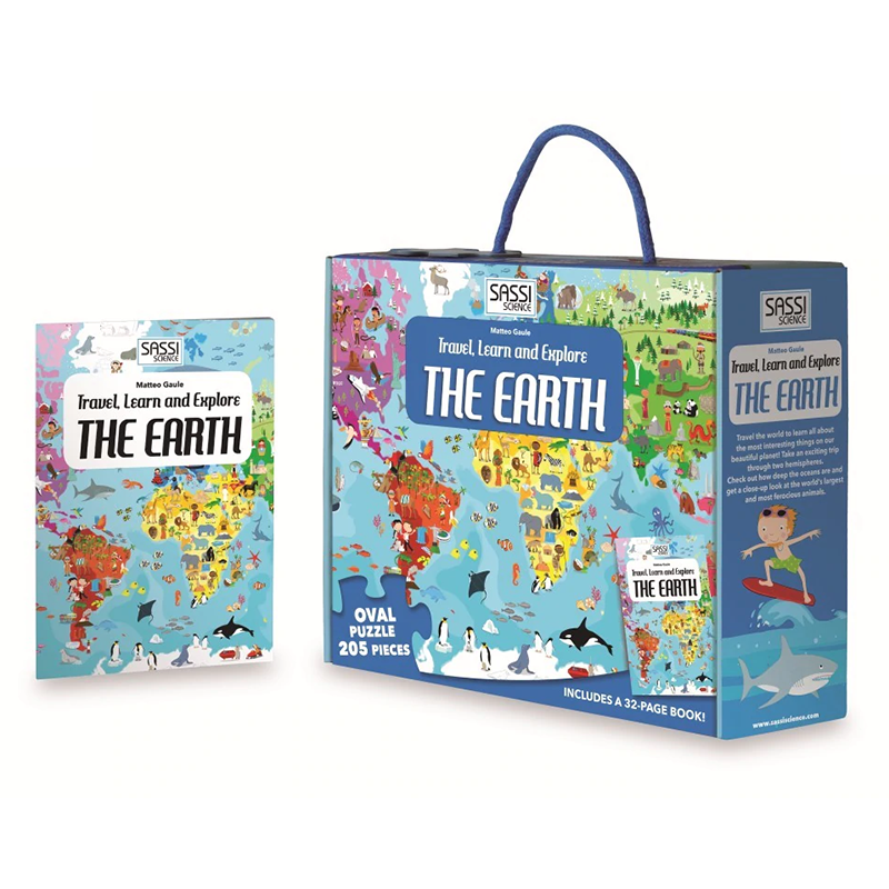 Travel Learn And Explore - The Earth Puzzle and Book Set