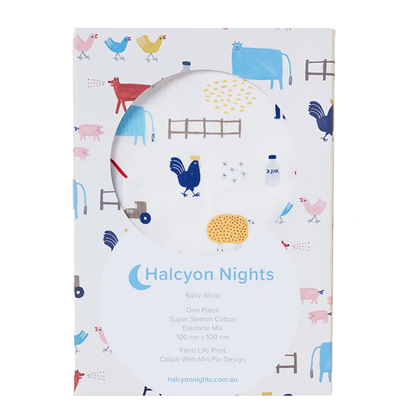 Halcyon Nights Baby Wrap - Farm Life