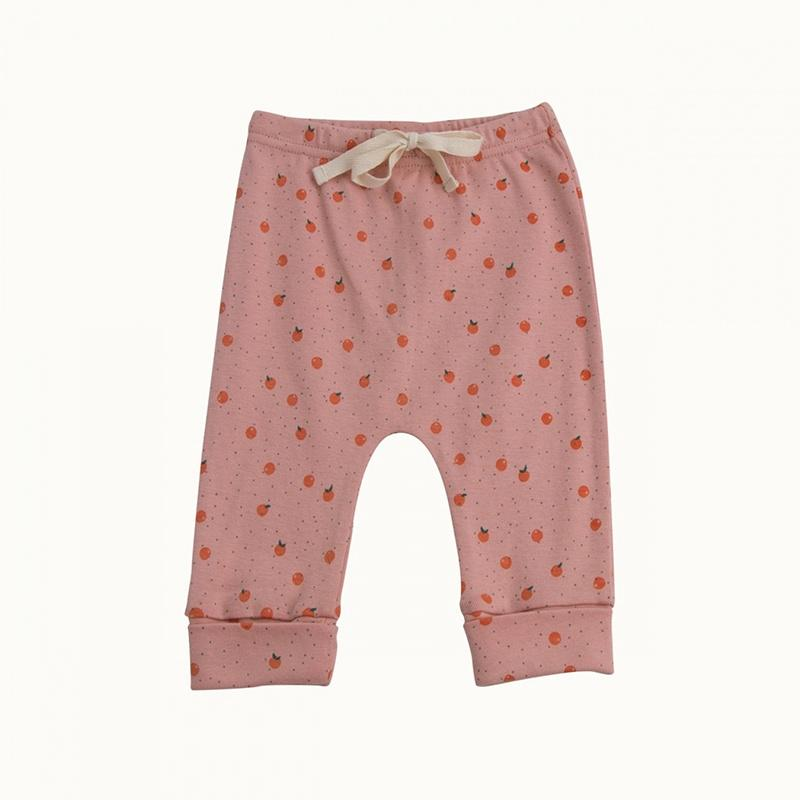 Nature Baby Drawstring Pants - Clementine Water Lily