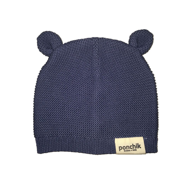 Ponchik Bear Ear Beanie - Dusk