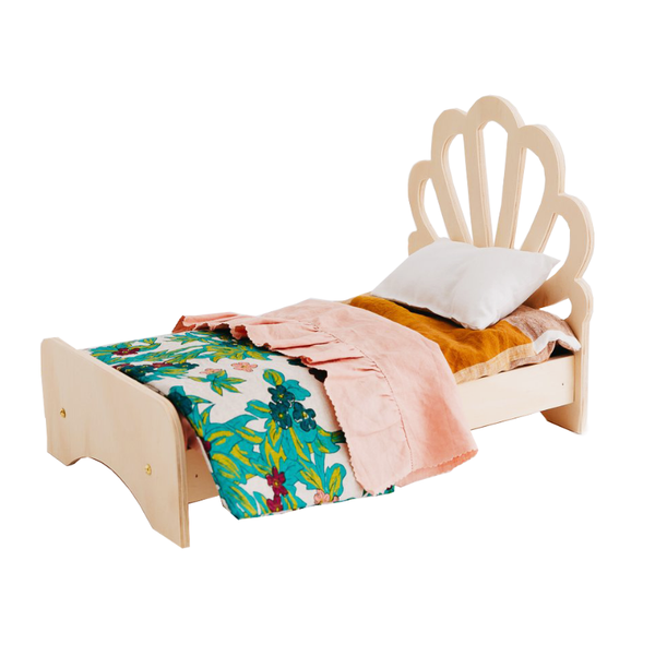 Pretty In Pine Shell Dolly Bed