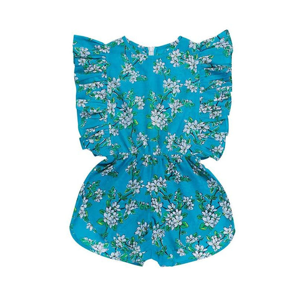 Delphine Playsuit - Sea Glass Blossom