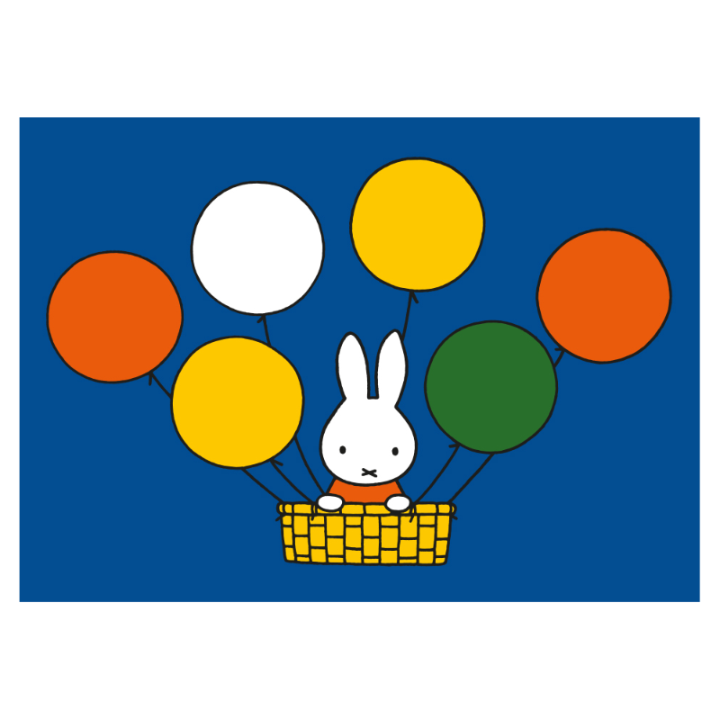 Dick Bruna - Miffy Floating with Balloons