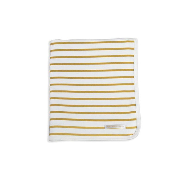 Mad About Mini Stripe Baby Wrap Mustard