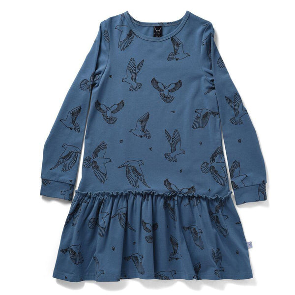 Littlehorn AW18 Dove Dress - Dove Blue