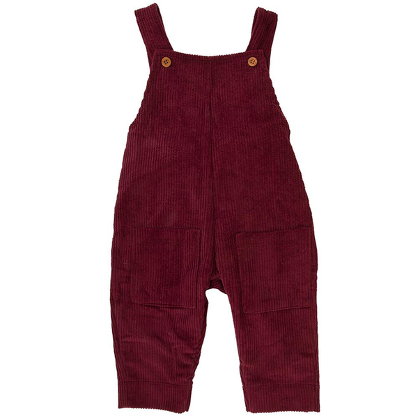Ponchik Cord Overalls - Mulberry