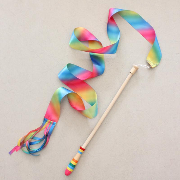 Rainbow Dance Ribbon- Princess swirl