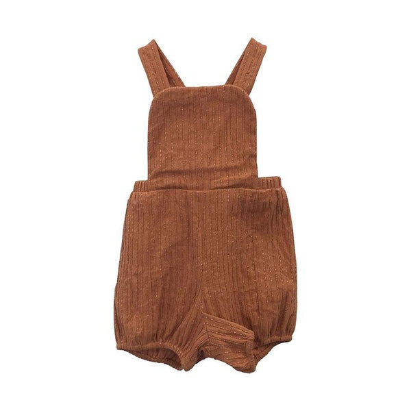 Carlie Ballard Intrepid Playsuit - Rust Metallic