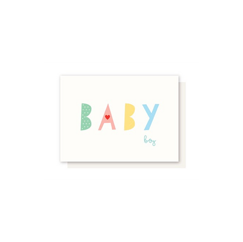 Elly Oak Card - Baby Boy