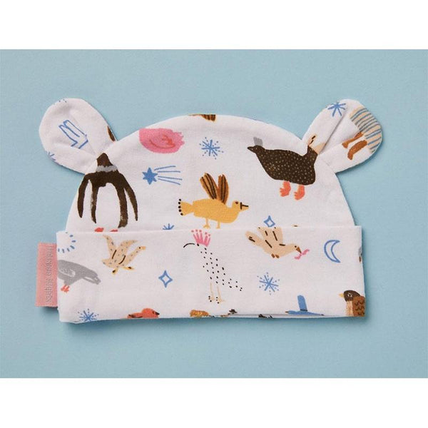 Halcyon Nights Lunar Baby Hat - Birds