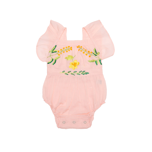 Coco & Ginger Camille Sunsuit - Wattle Embroidery