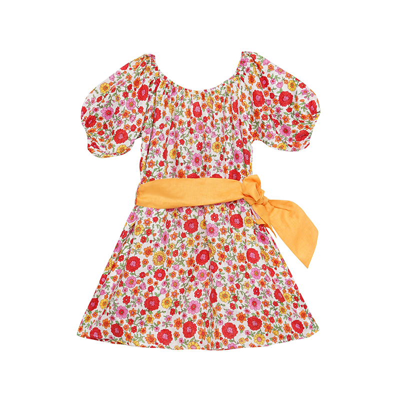 Coco & Ginger Hera Dress - Summer Dahlia Linen