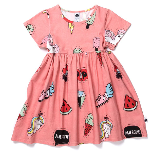 Littlehorn Badges Dress Sorbet