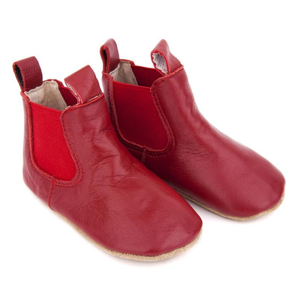 Skeanie Pre-Walker Riding Boots - Red