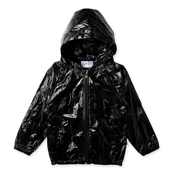 Minti High Shine Anorak - Black Galaxy