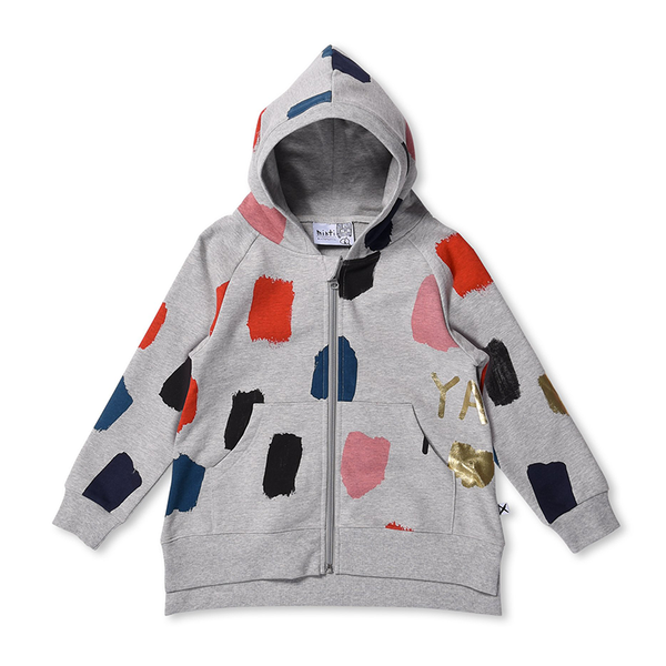 Minti Colour Pop Hoodie - Grey Marle