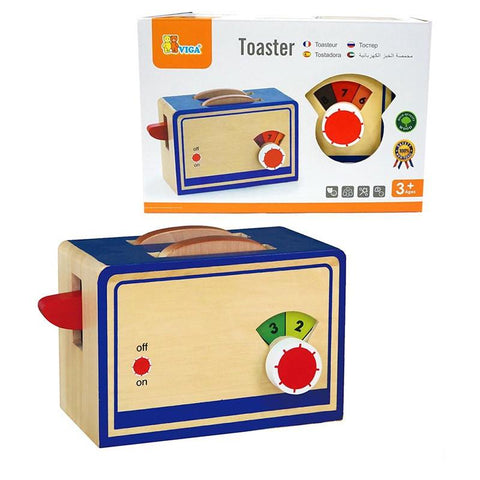Wooden Toaster With Bread