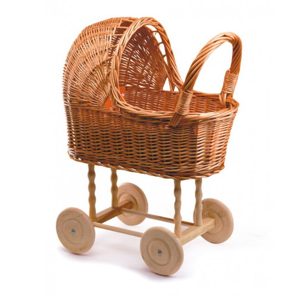 Small Wicker Pram + Bedding