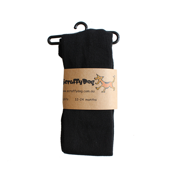 Scruffy Dog Tights - Black