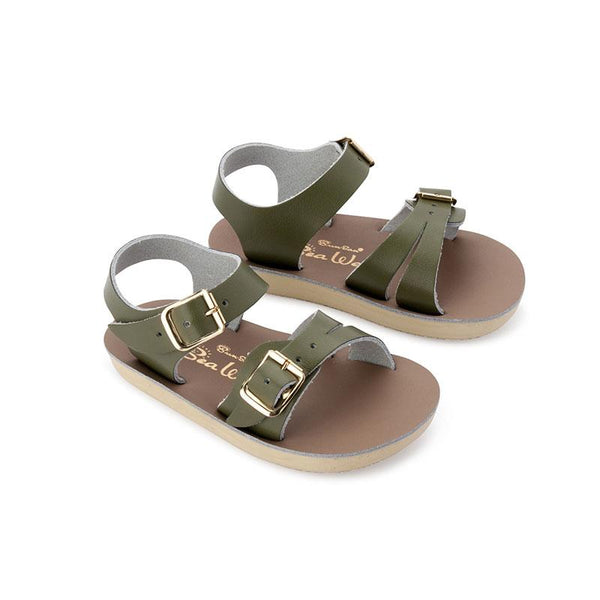 Saltwater Sun-San Sea Wee Sandals - Olive