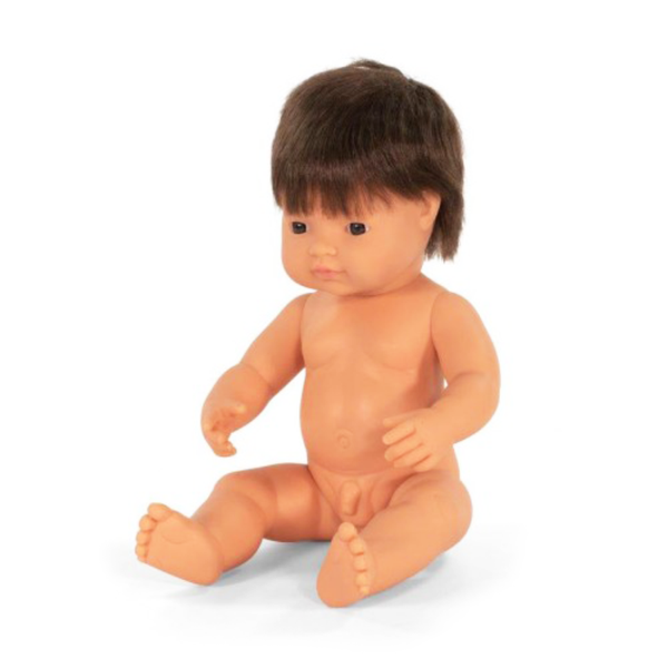 Miniland Doll - Large Caucasian Brunette Boy