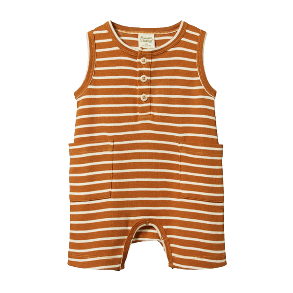 Nature Baby Camper Suit - Harvest Sailor Stripe